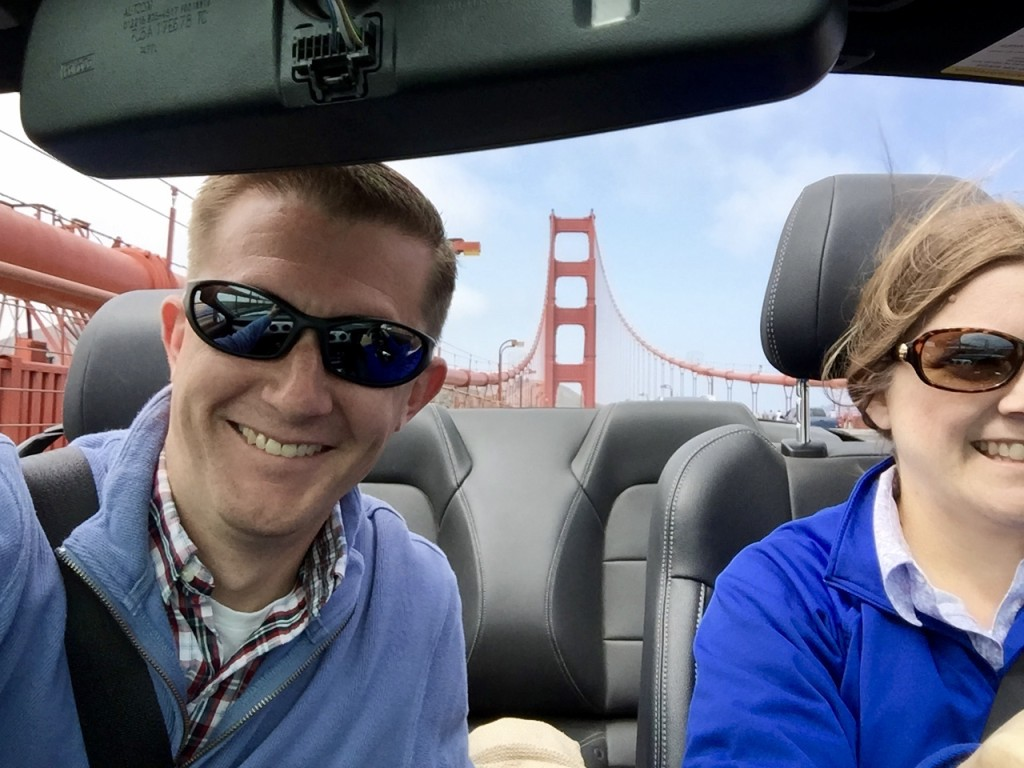 Our first time across the Golden Gate Bridge and Anna was excited to be the one driving!